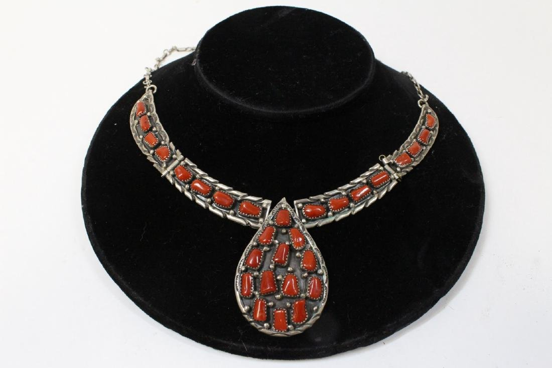 Sterling necklace with coral