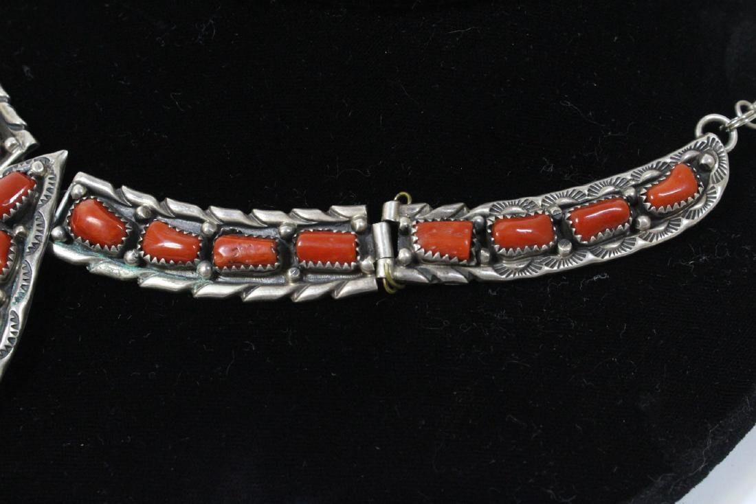 Sterling necklace with coral - 3