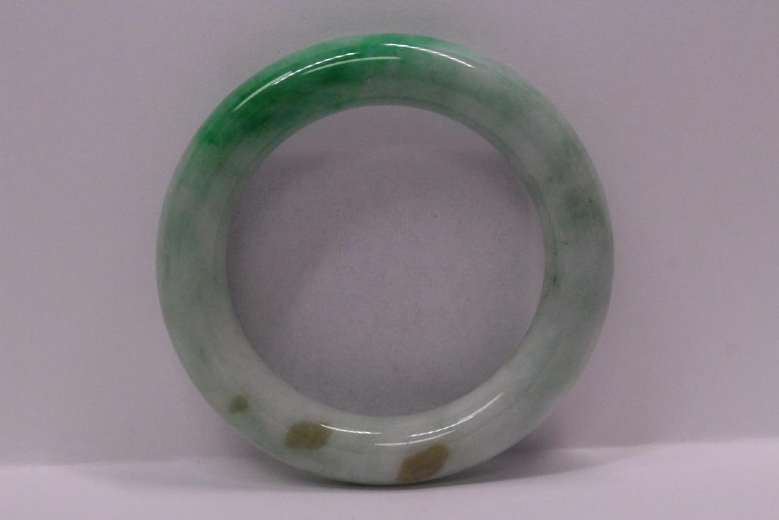 natural color jadeite bangle bracelet