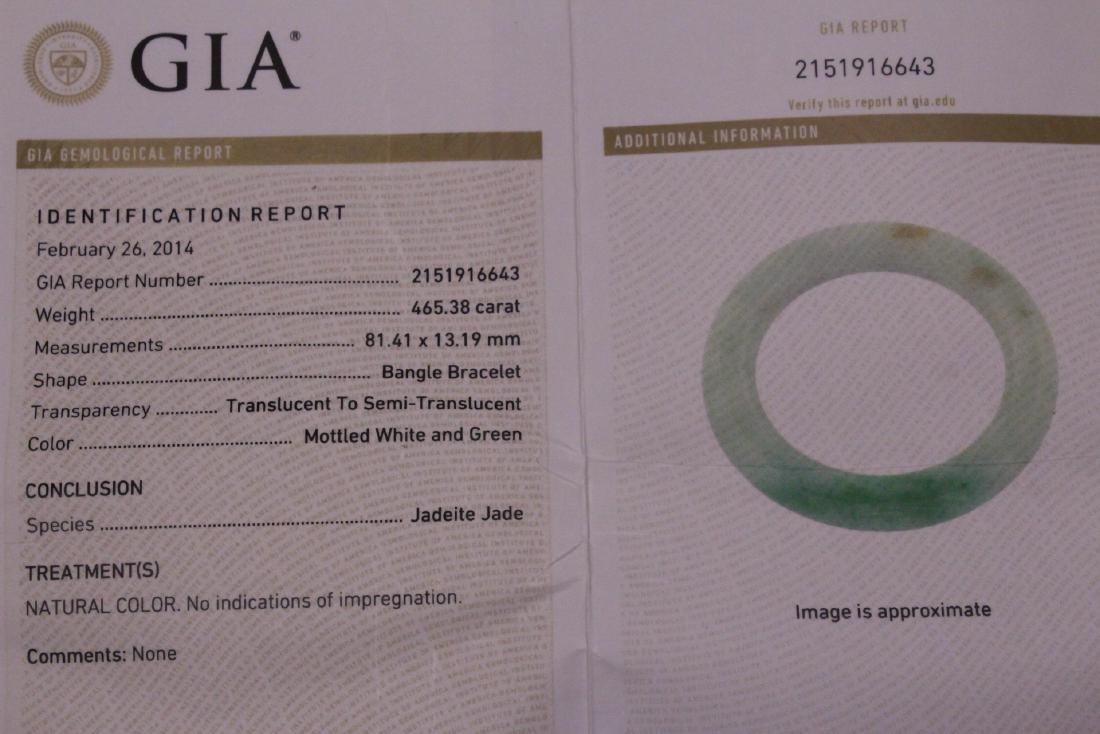 natural color jadeite bangle bracelet - 2
