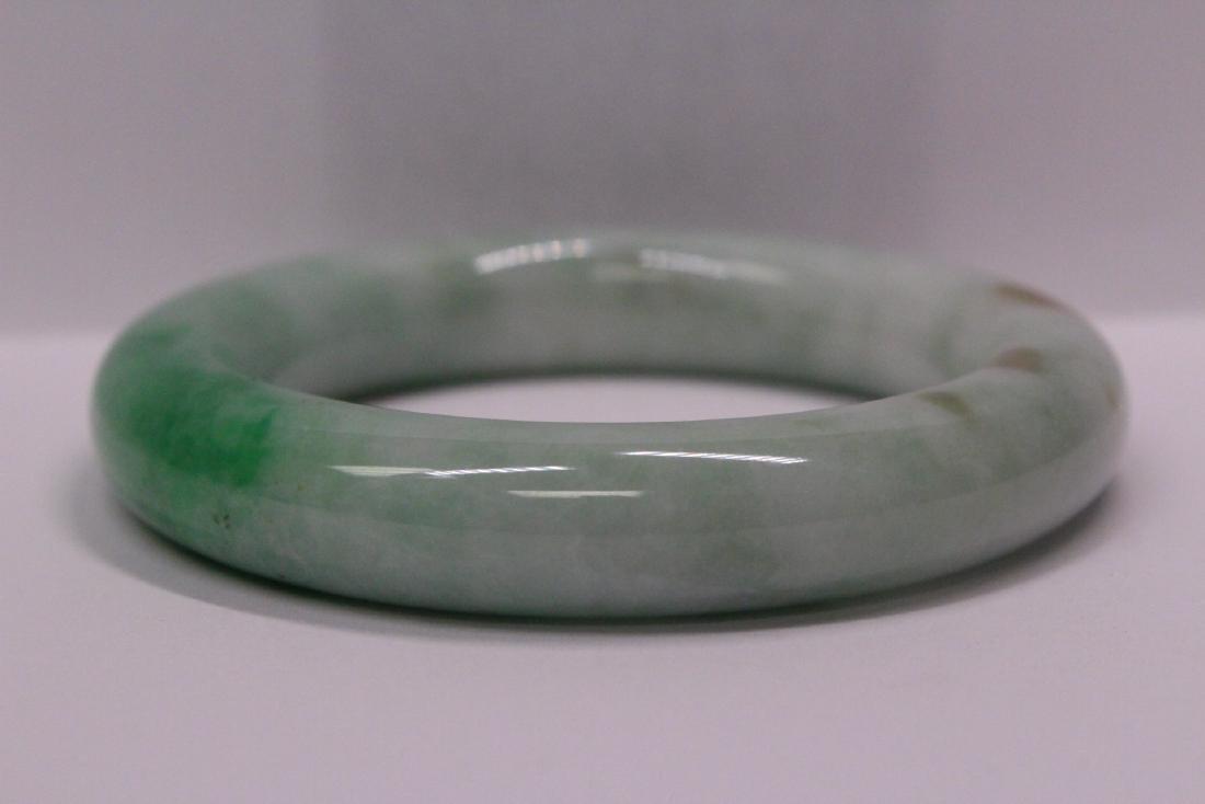 natural color jadeite bangle bracelet - 5