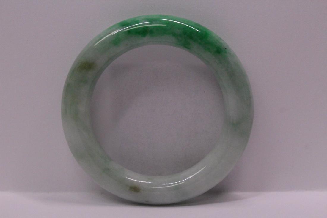natural color jadeite bangle bracelet - 8