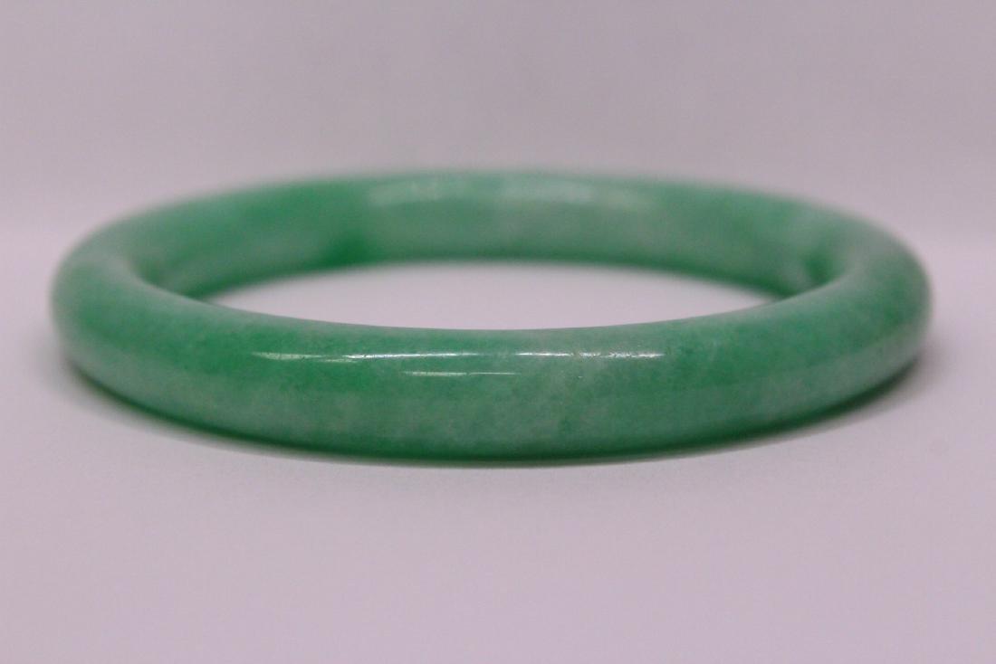 Chinese apple green jadeite bangle bracelet - 10