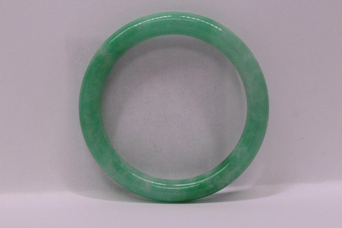 Chinese apple green jadeite bangle bracelet