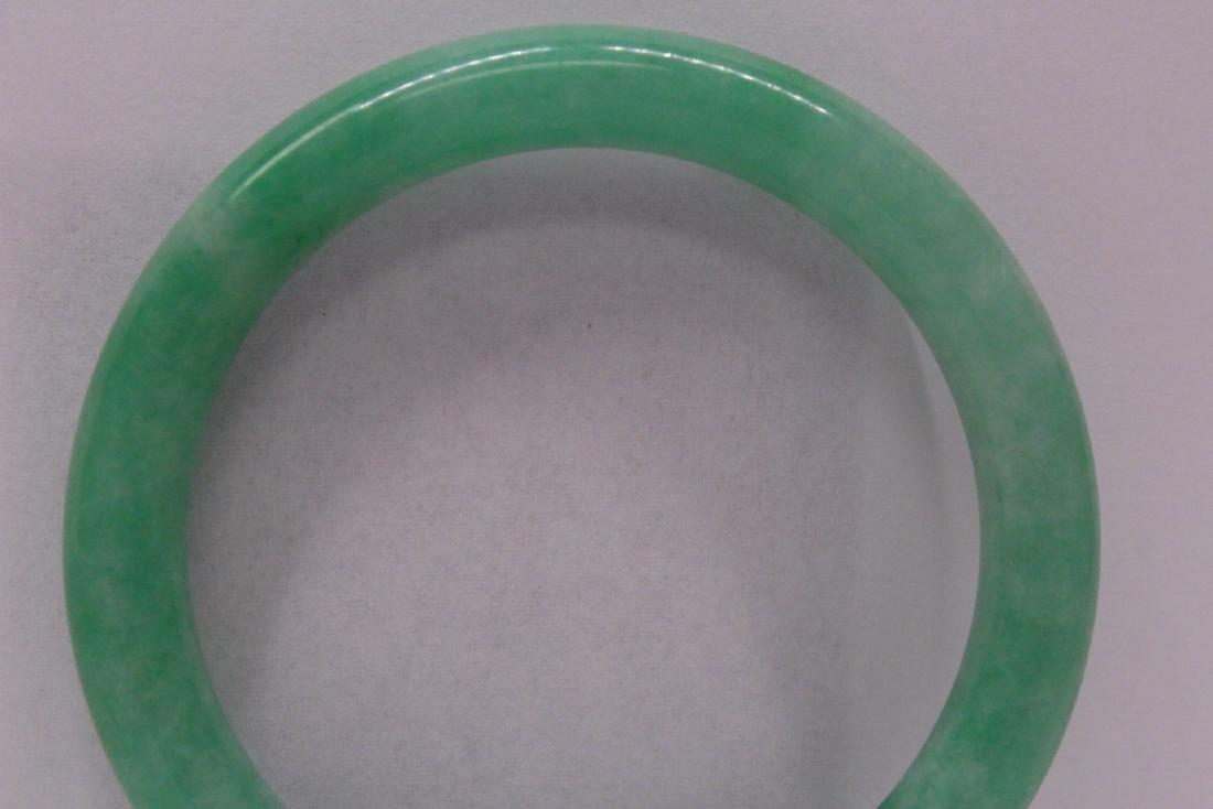 Chinese apple green jadeite bangle bracelet - 2