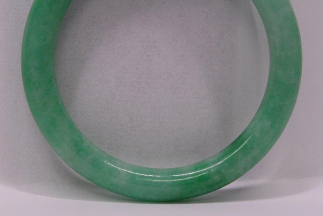 Chinese apple green jadeite bangle bracelet - 3