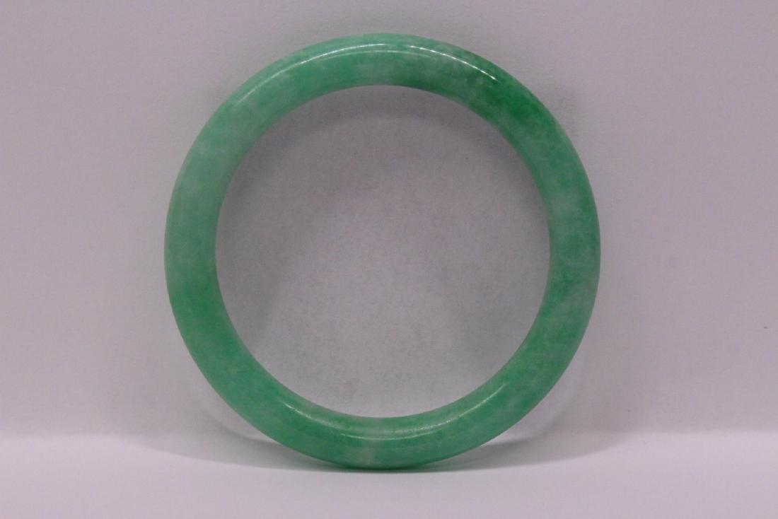 Chinese apple green jadeite bangle bracelet - 7