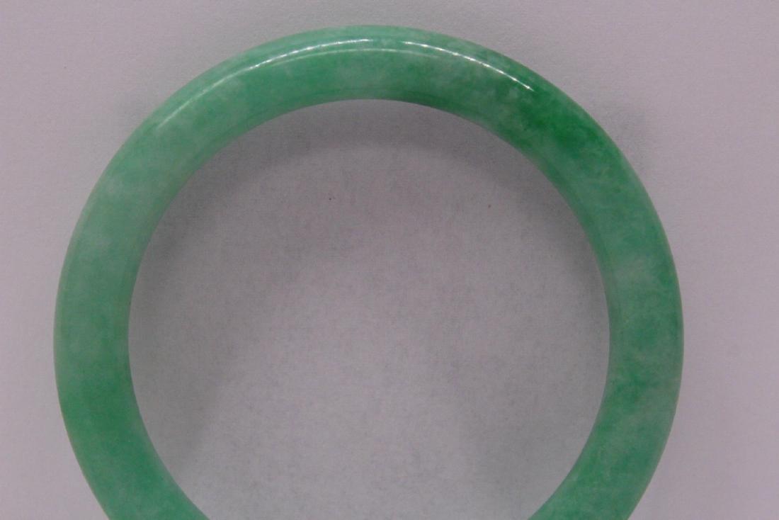 Chinese apple green jadeite bangle bracelet - 8