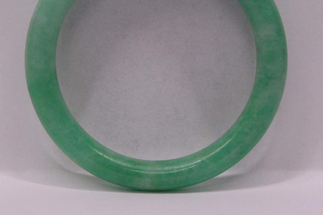 Chinese apple green jadeite bangle bracelet - 9