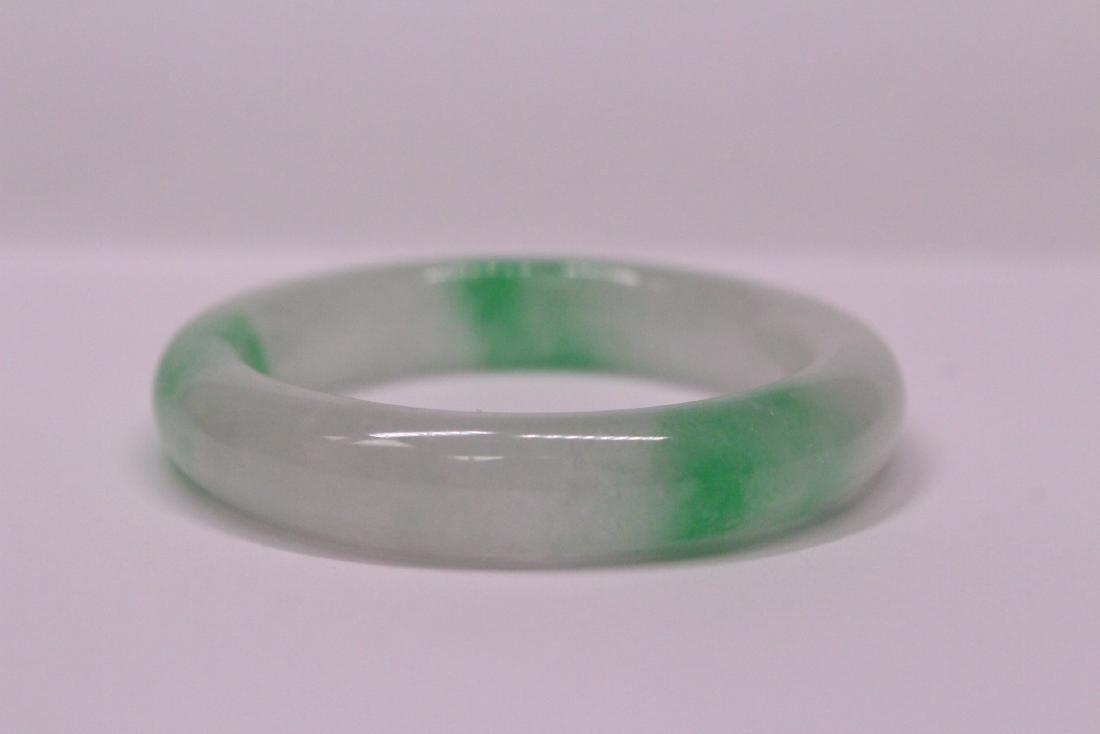 Chinese jadeite children bangle bracelet - 5