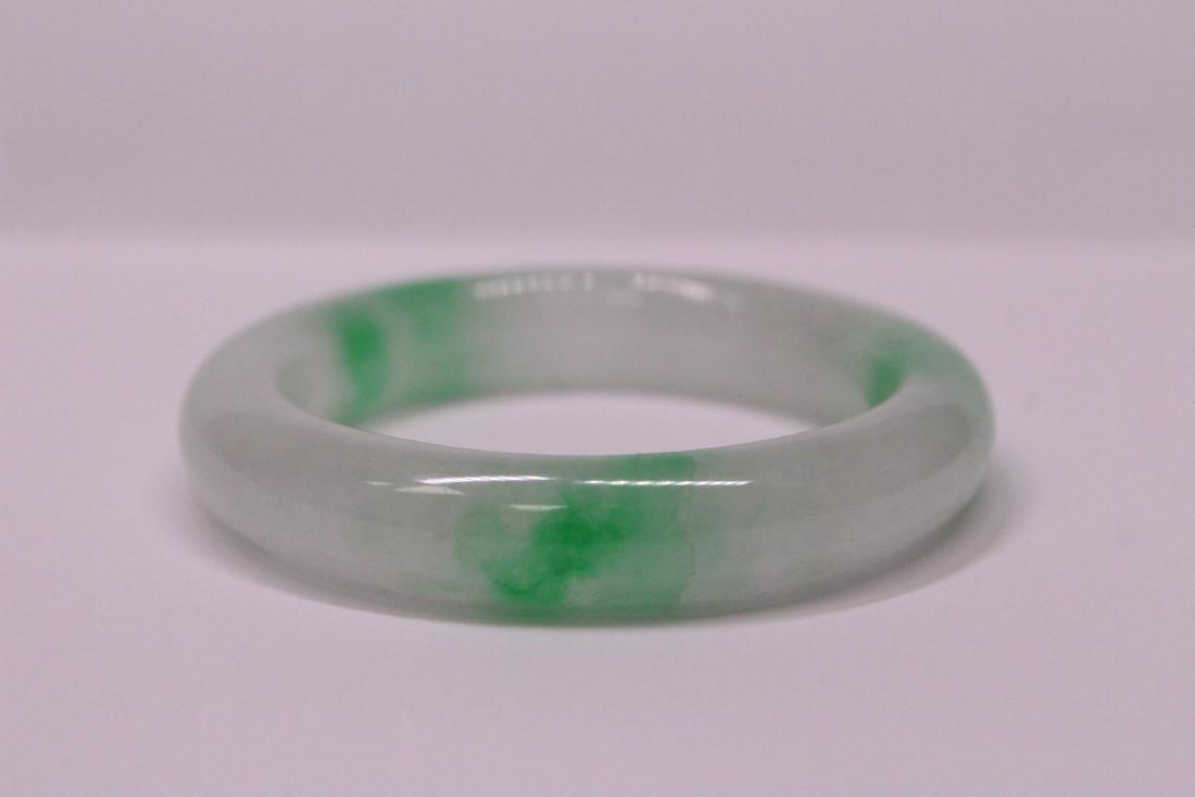 Chinese jadeite children bangle bracelet - 6