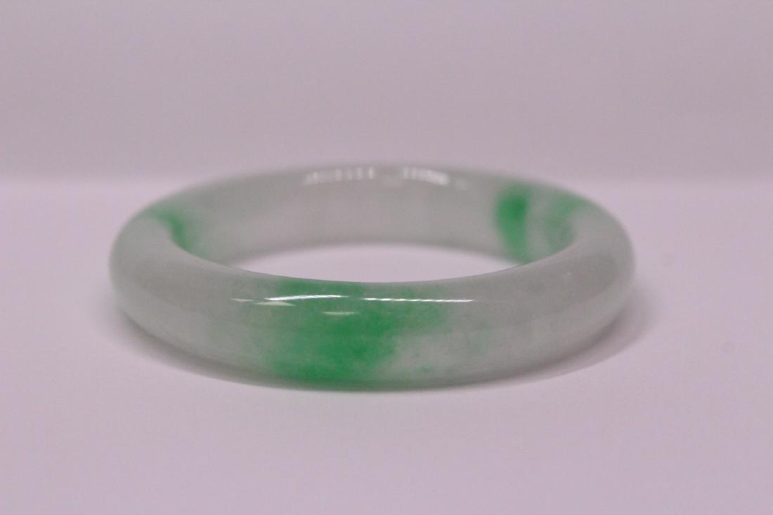 Chinese jadeite children bangle bracelet - 7