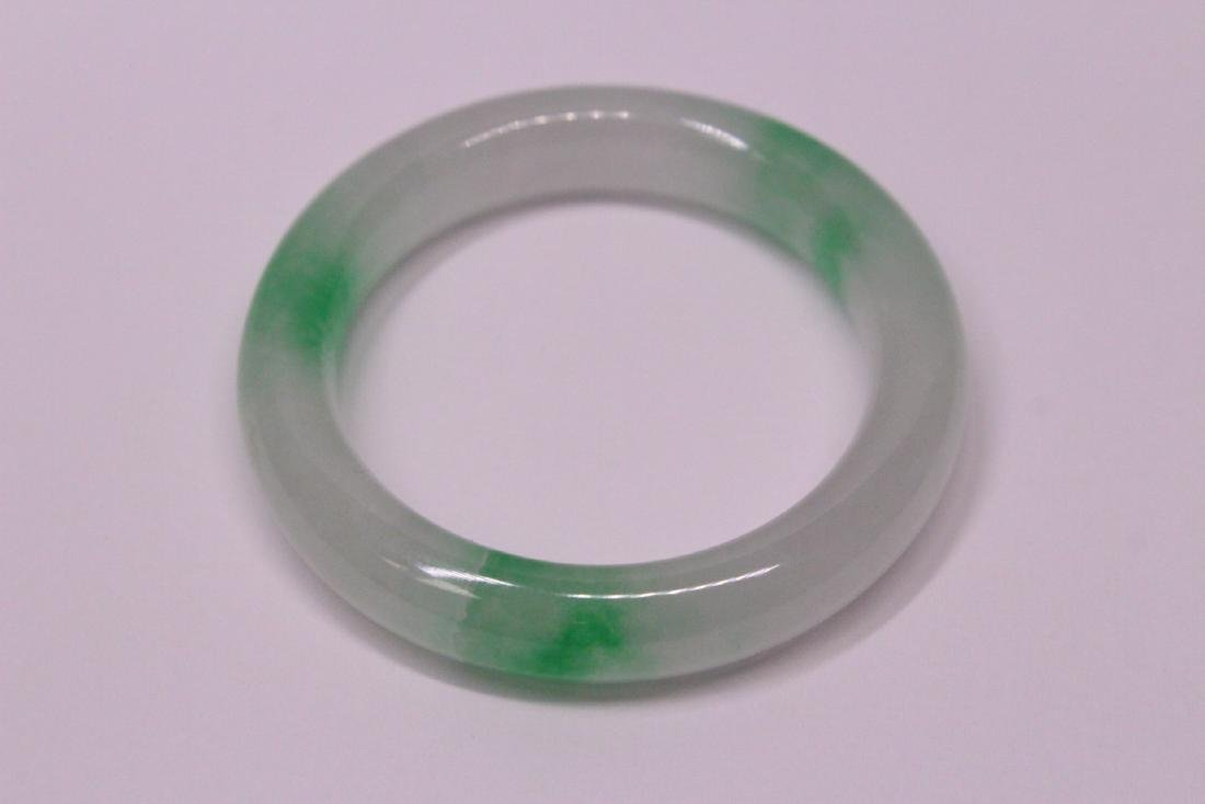 Chinese jadeite children bangle bracelet - 8