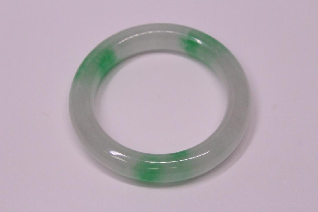 Chinese jadeite children bangle bracelet - 9