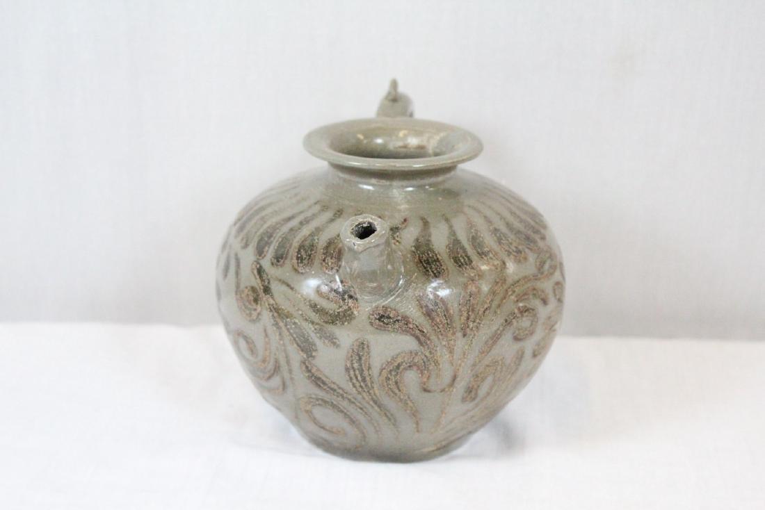 Korean porcelain teapot & Korean bronze mirror - 5