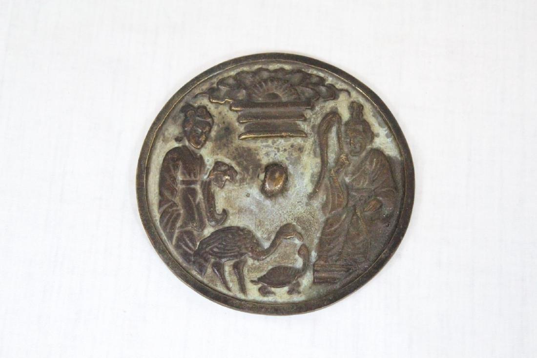Korean porcelain teapot & Korean bronze mirror - 8