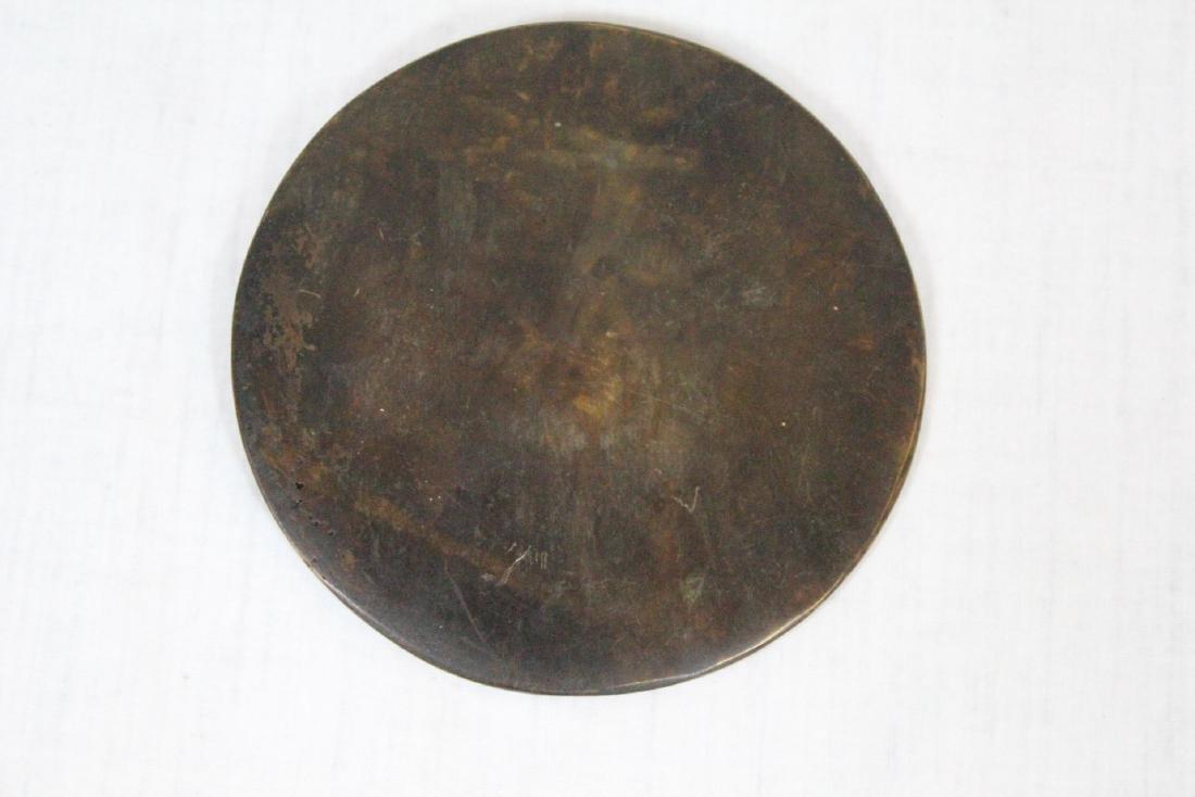 Korean porcelain teapot & Korean bronze mirror - 9