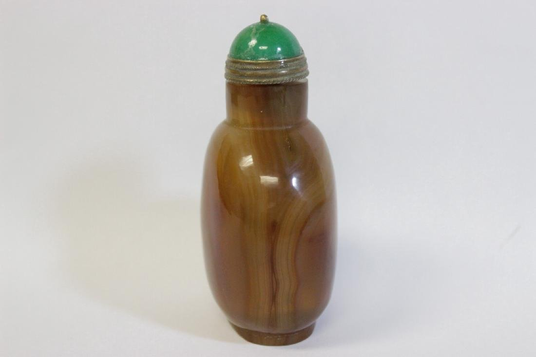 Chinese well hollowed agate snuff bottle - 2