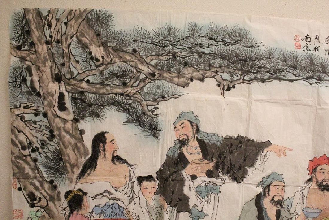 A large Chinese watercolor on rice paper - 2