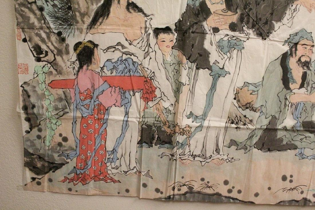 A large Chinese watercolor on rice paper - 3