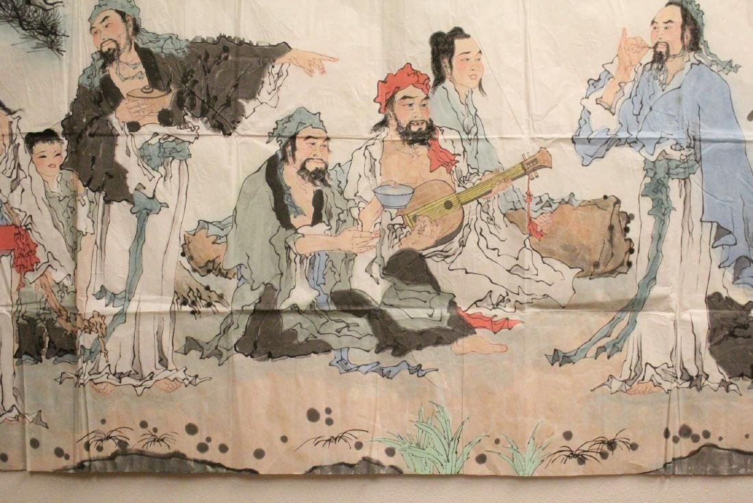 A large Chinese watercolor on rice paper - 5