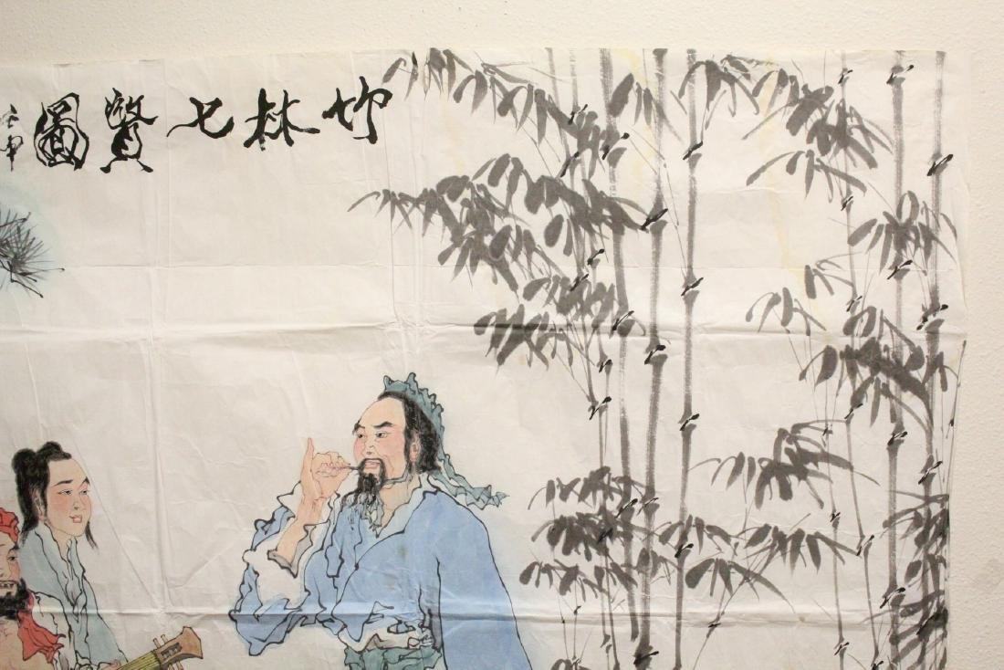 A large Chinese watercolor on rice paper - 6