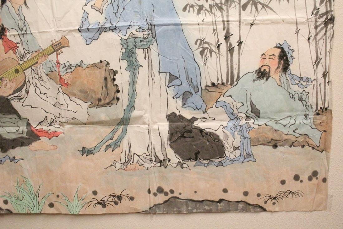 A large Chinese watercolor on rice paper - 7