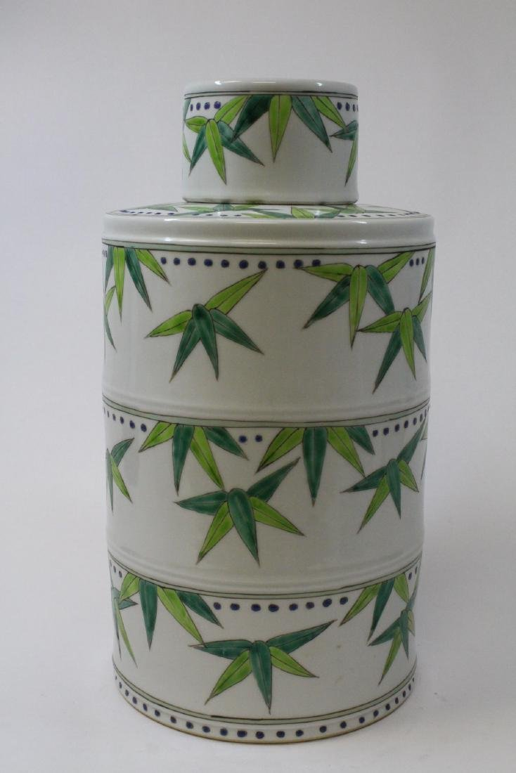 Chinese wucai porcelain candy jar
