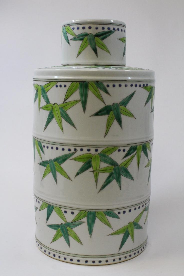 Chinese wucai porcelain candy jar - 2