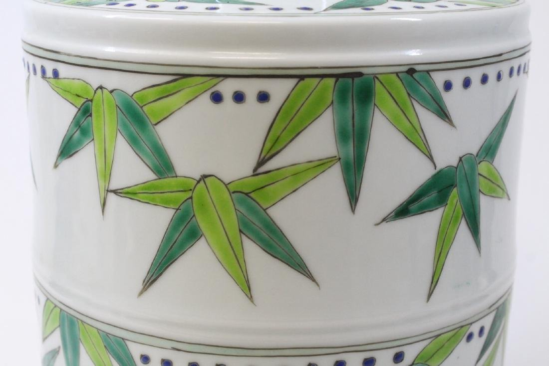 Chinese wucai porcelain candy jar - 9
