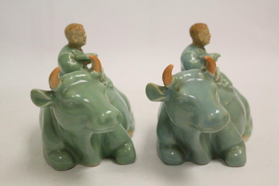 2 Chinese celadon porcelain pieces - 6