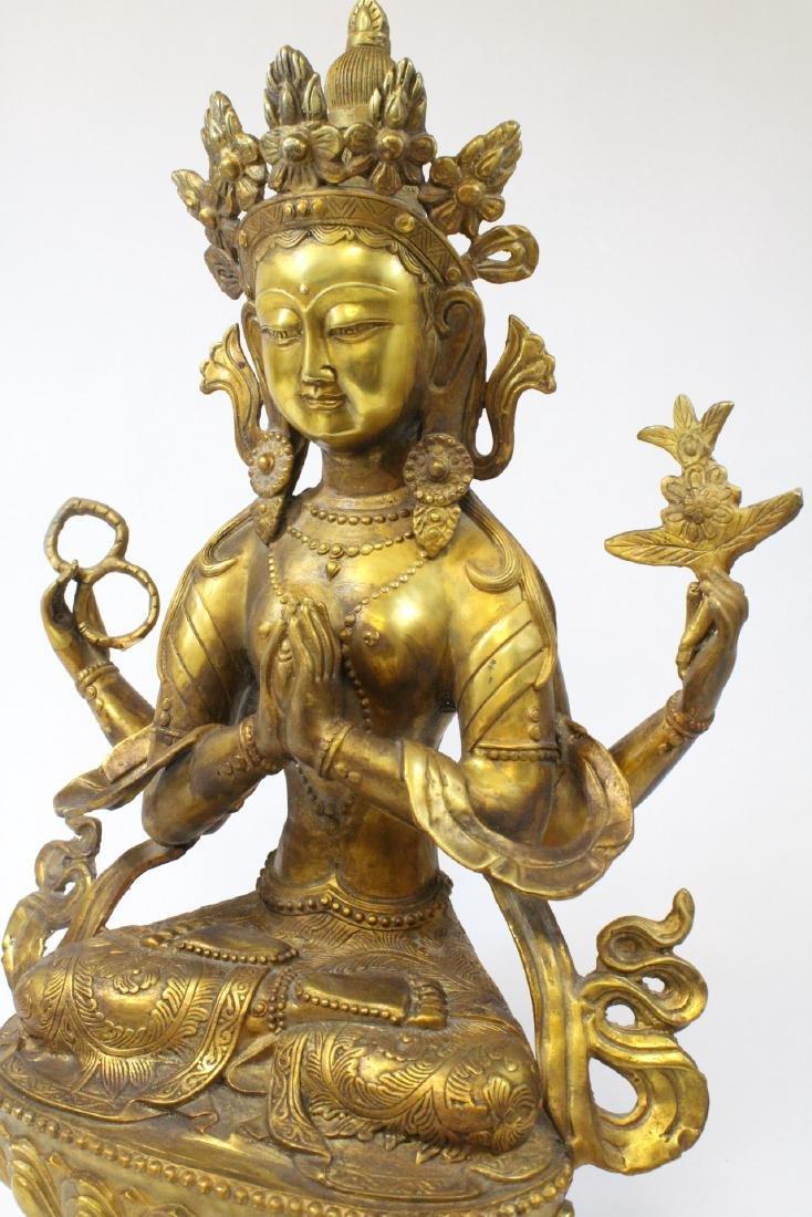 Chinese gilt bronze sculpture - 10
