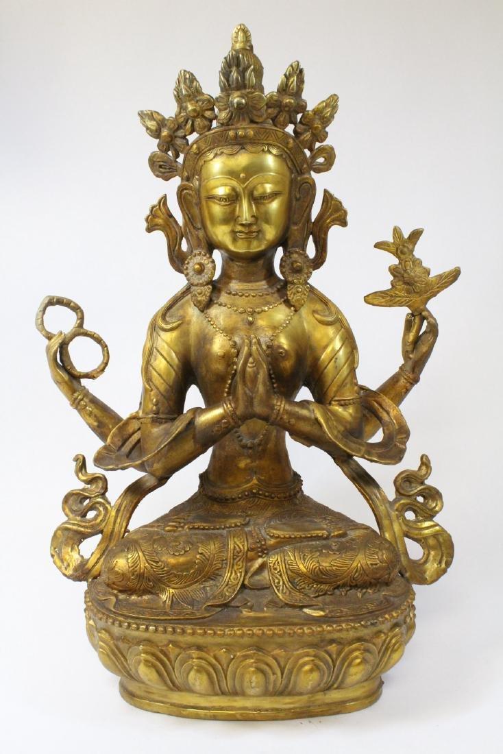 Chinese gilt bronze sculpture