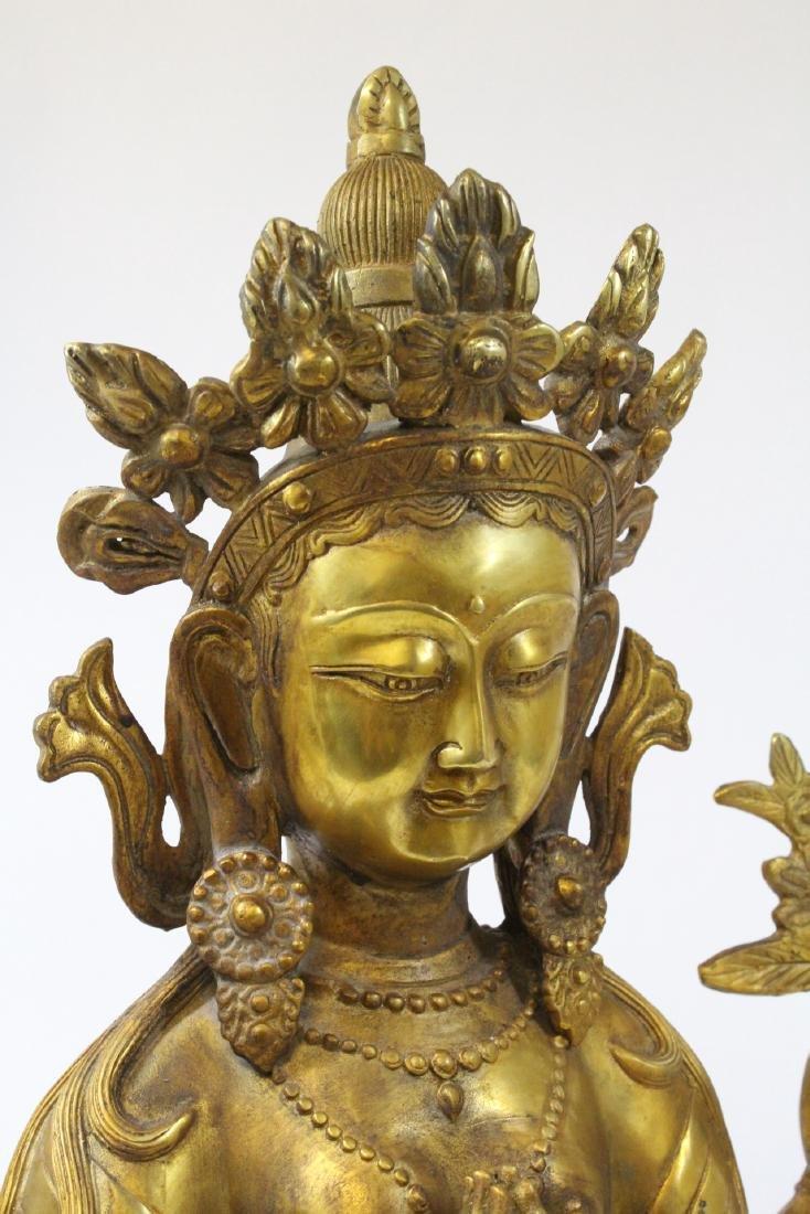 Chinese gilt bronze sculpture - 5