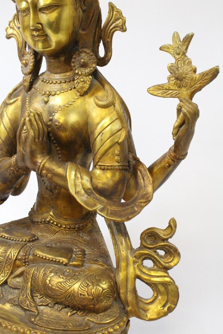 Chinese gilt bronze sculpture - 7