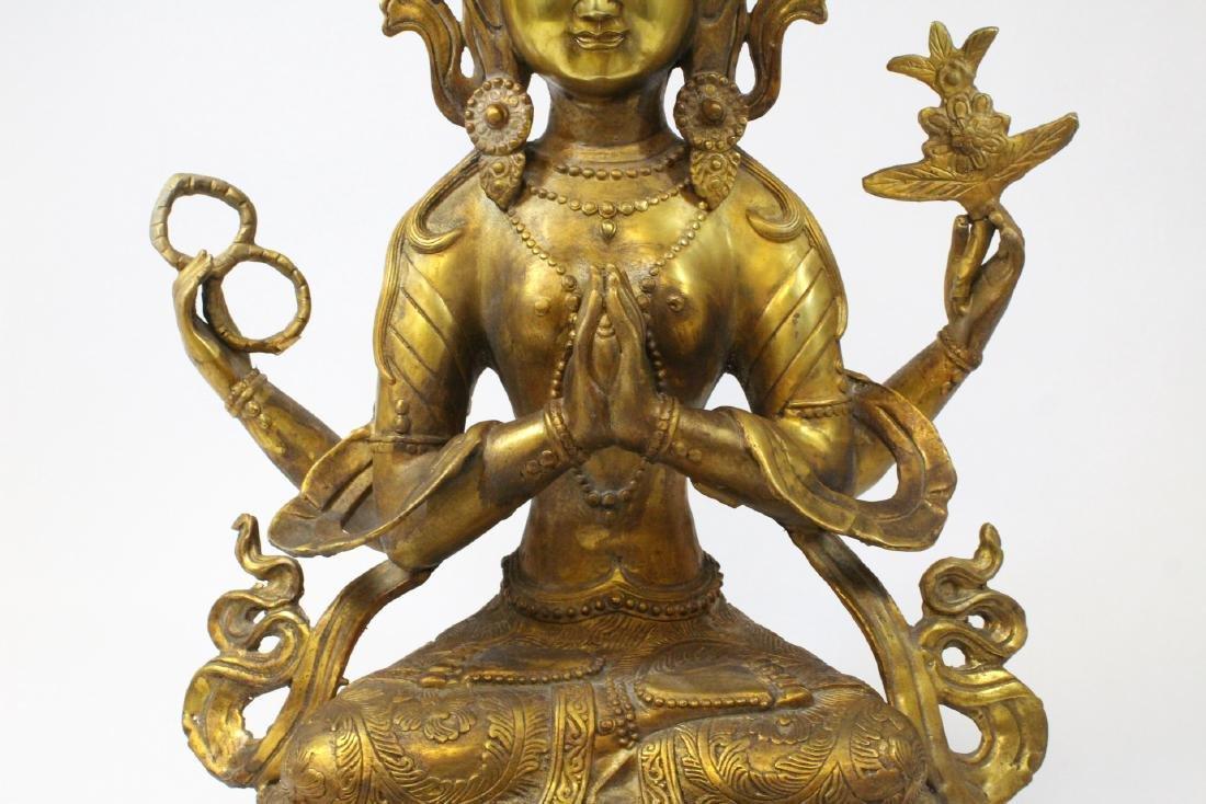 Chinese gilt bronze sculpture - 9