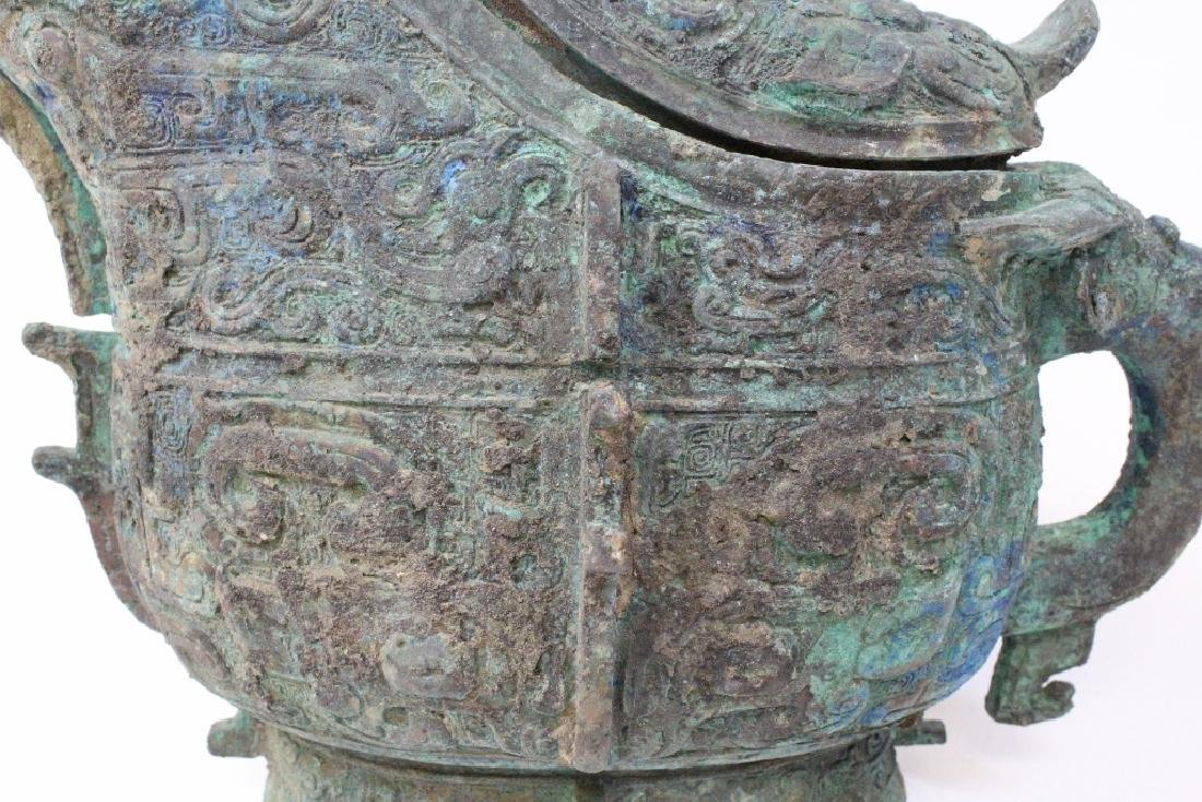 Chinese archaic style bronze wine vessel - 7