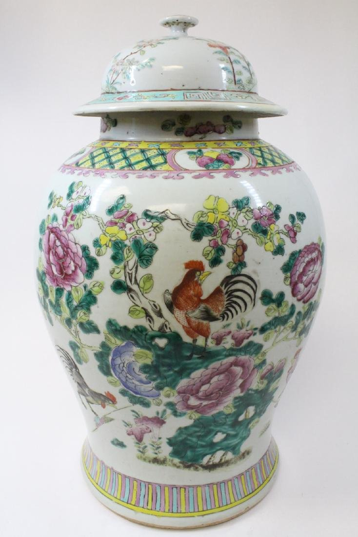 Chinese famille rose porcelain covered jar - 3