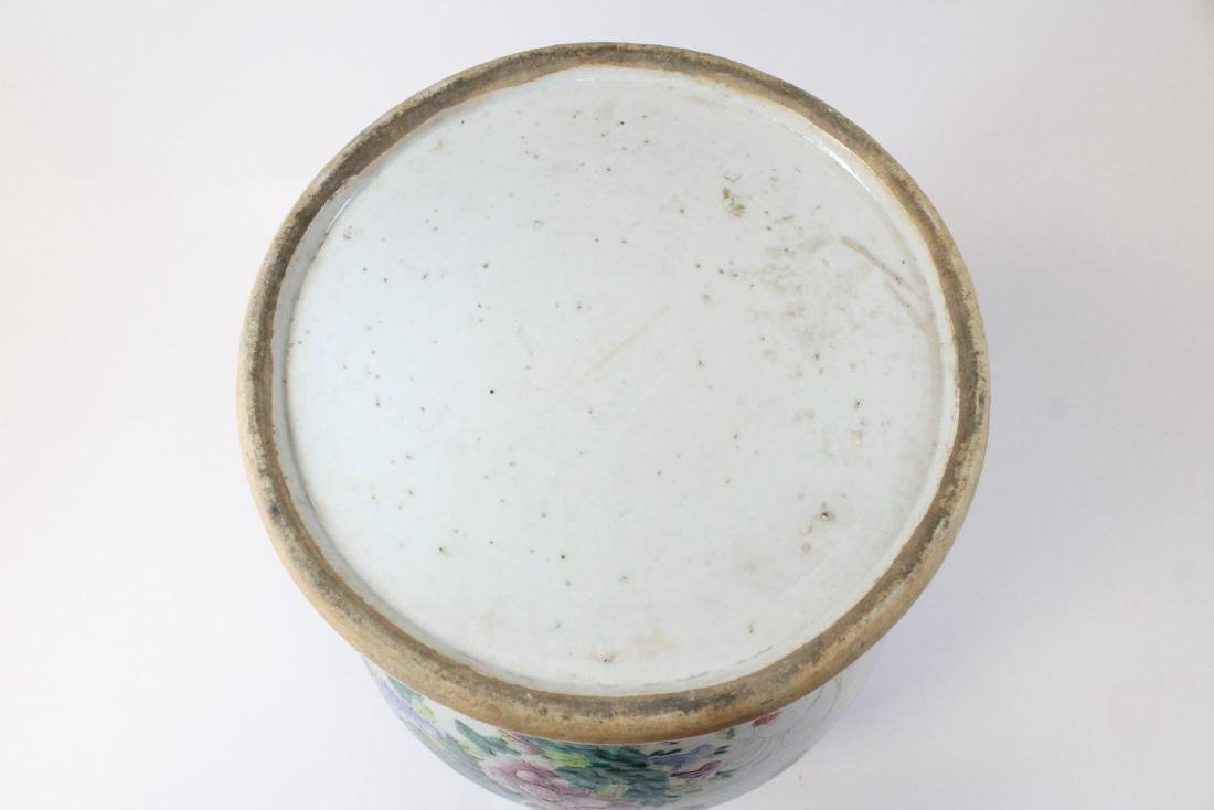 Chinese famille rose porcelain covered jar - 7