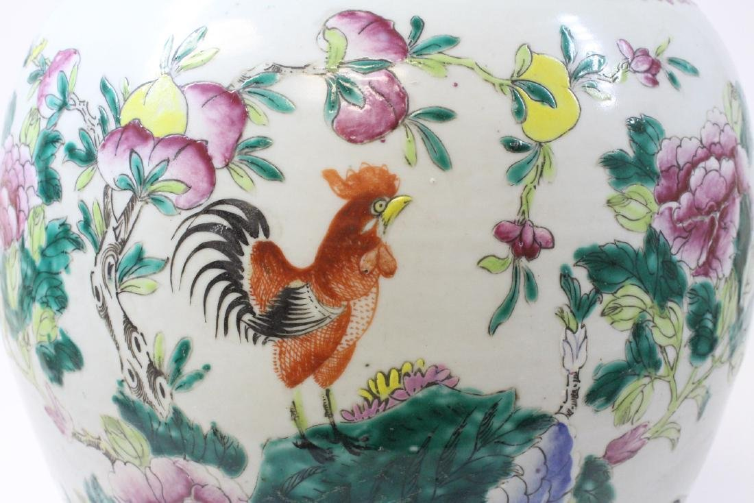 Chinese famille rose porcelain covered jar - 9