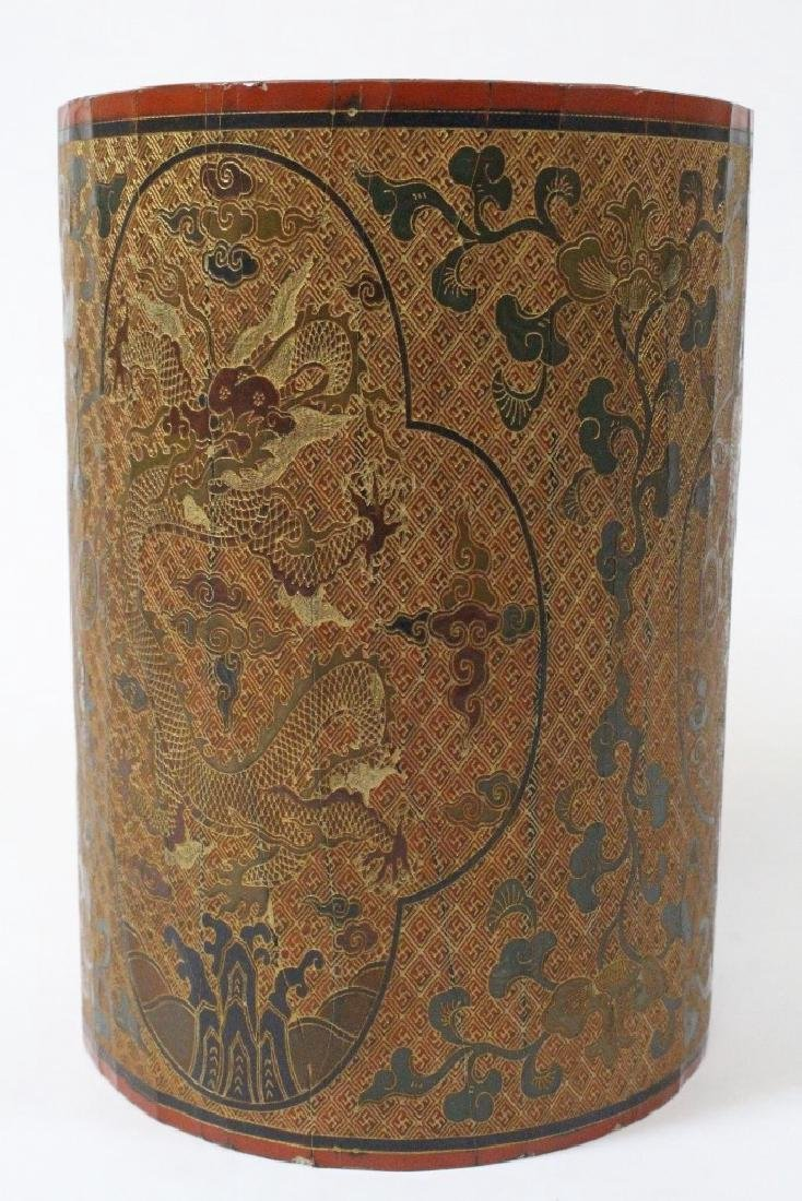 Chinese lacquer brush holder - 3