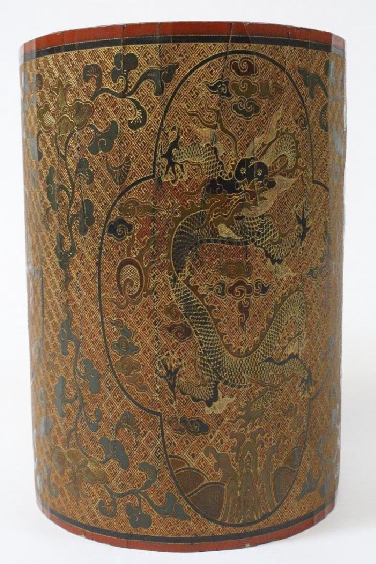Chinese lacquer brush holder - 4