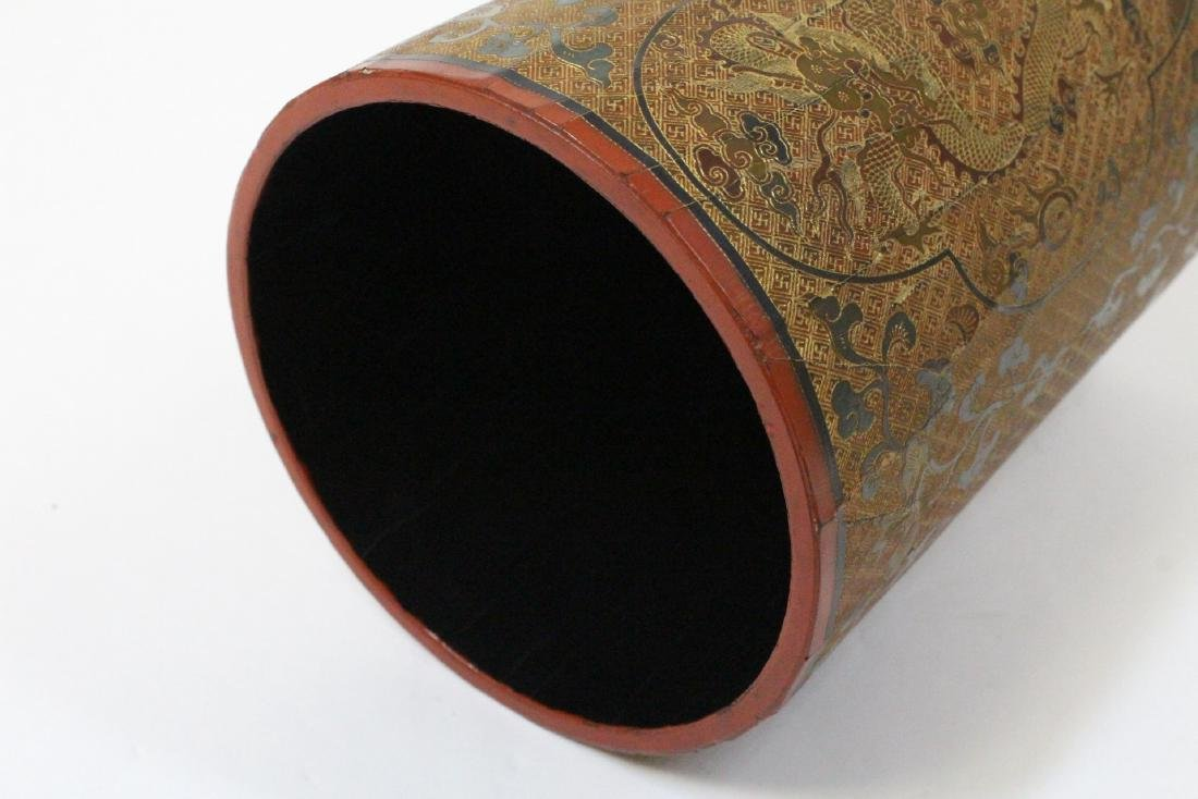 Chinese lacquer brush holder - 5
