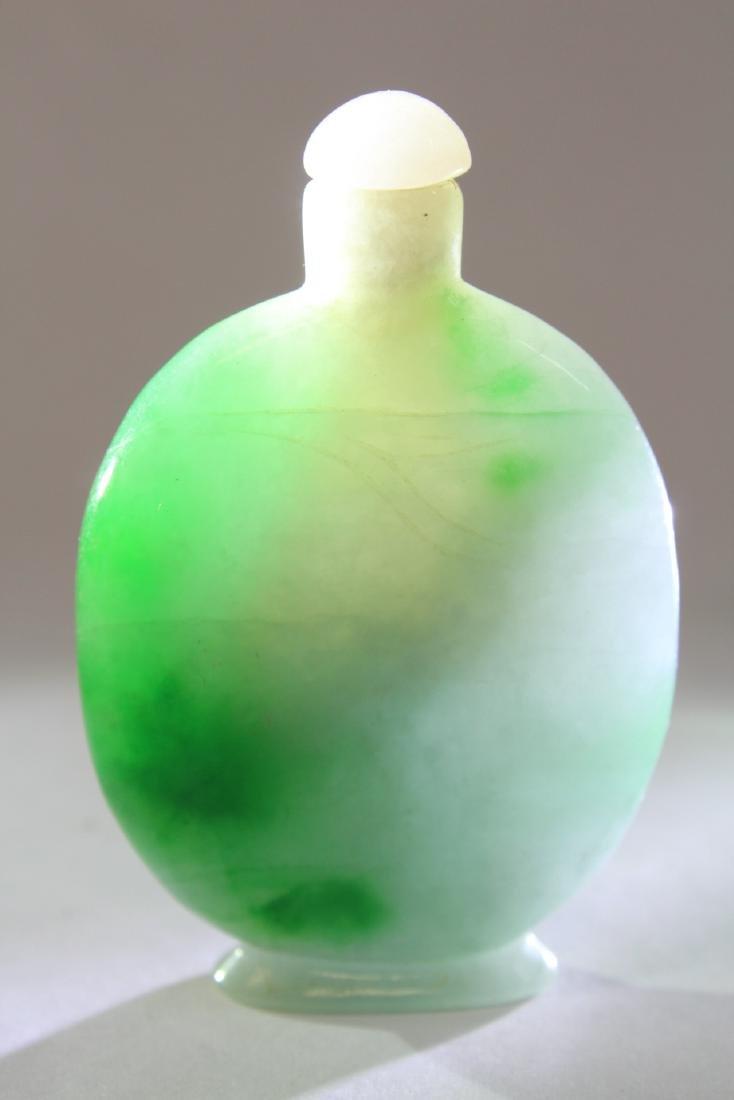 Chinese jadeite snuff bottle - 2
