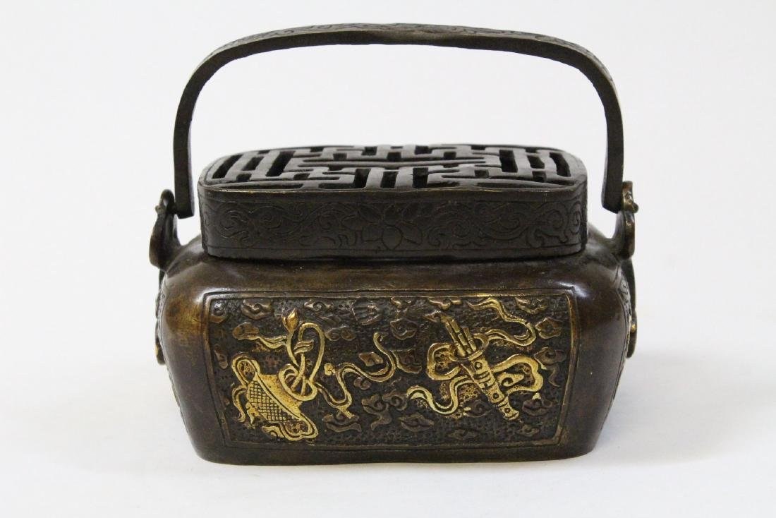 Chinese bronze hand warmer