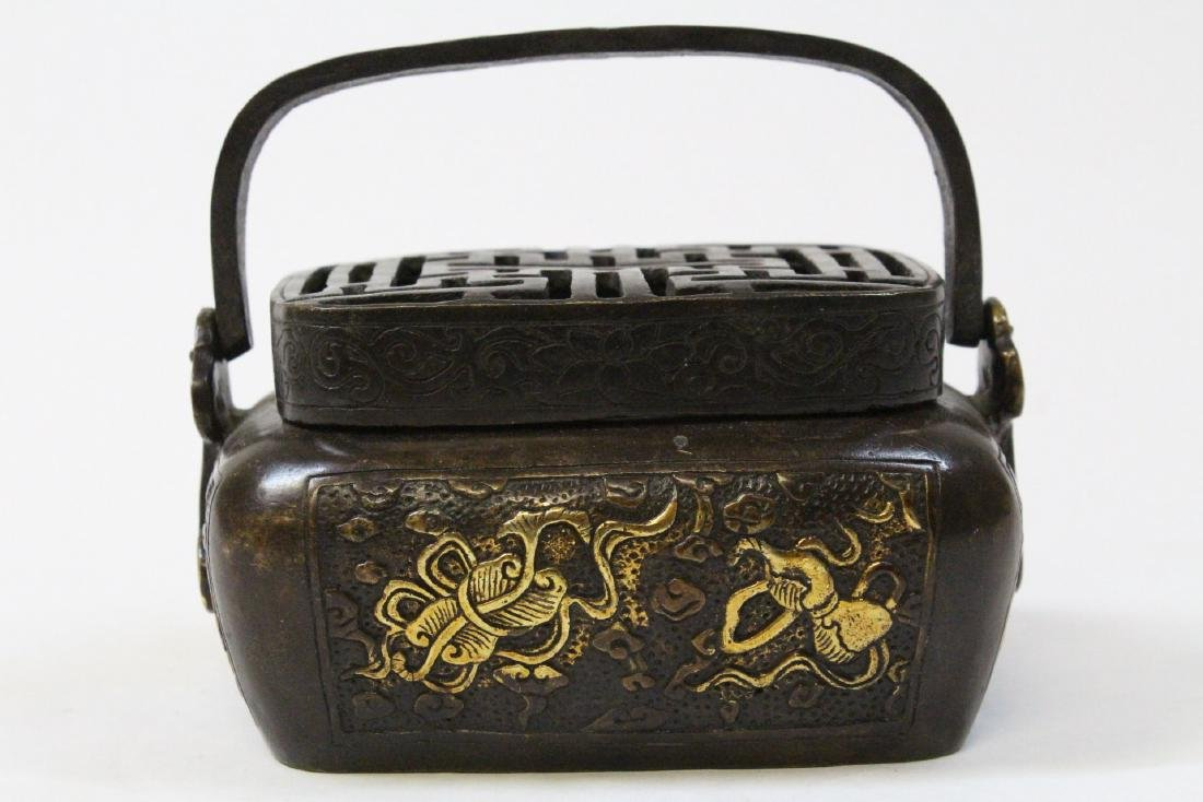 Chinese bronze hand warmer - 3
