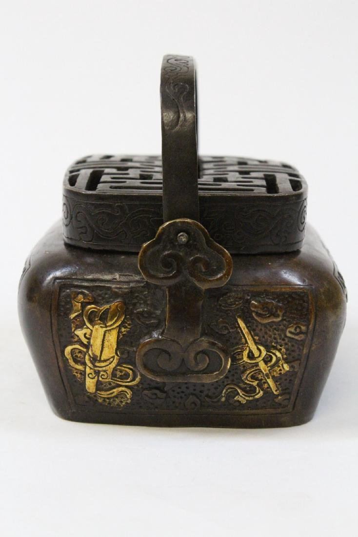 Chinese bronze hand warmer - 4
