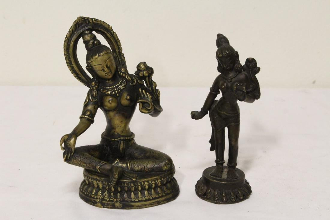 2 Tibetan bronze sculpture of Buddha