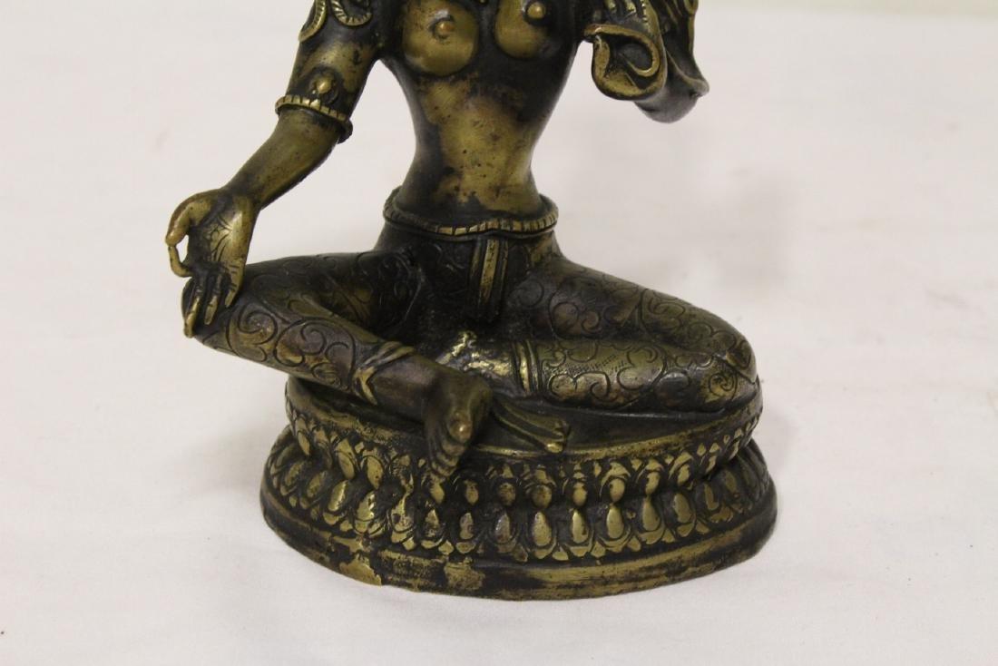 2 Tibetan bronze sculpture of Buddha - 3
