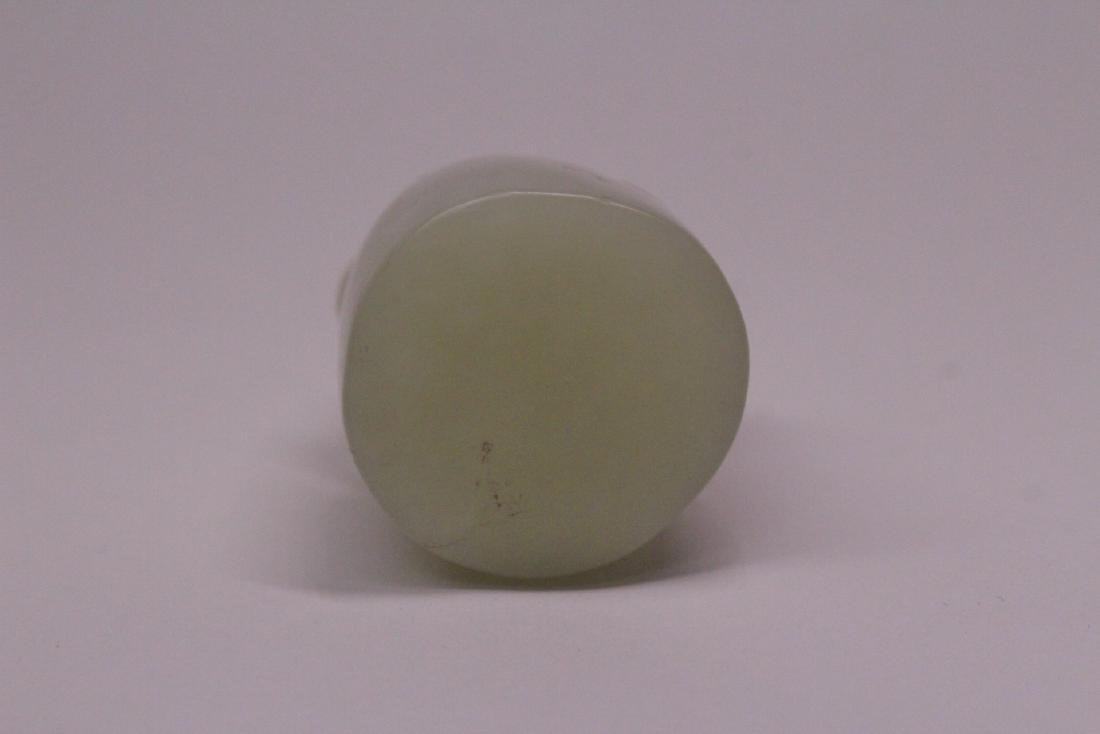 2 Chinese white jade carved seal - 5